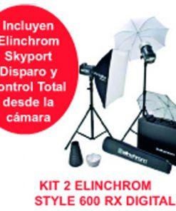 KIT 2 ELINCHROM STYLE 600 RX DIGITAL