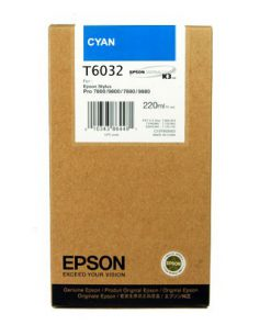 C13T603200 CARTUCHO INYECCION TINTA CIAN 220ML STYLUS PRO/7880/9880/7800/9800