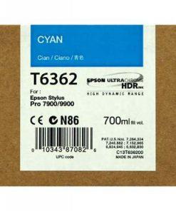 C13T636200 CARTUCHO INYECCION TINTA CIAN 700ML STYLUS PRO/7900/9900/9700/7700/7890/WT7900/9890