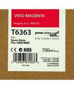 C13T636300 CARTUCHO INYECCION TINTA MAGENTA 700ML STYLUS PRO/7900/9900/9700/7700/7890/WT7900/9890