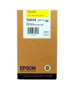 C13T603400 CARTUCHO INYECCION TINTA AMARILLO 220ML STYLUS PRO/7880/9880/7800/9800