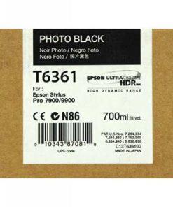C13T636100 CARTUCHO INYECCION TINTA NEGRO FOTO 700ML STYLUS PRO/7900/9900/9700/7700/7890/WT7900/9890