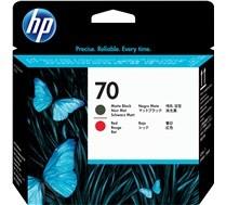 Cabezal de impresión DesignJet HP 70 rojo/negro mate
