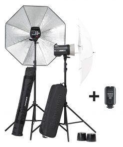 KIT ELINCHROM BRX 250/250 UMBRELLA TO GO